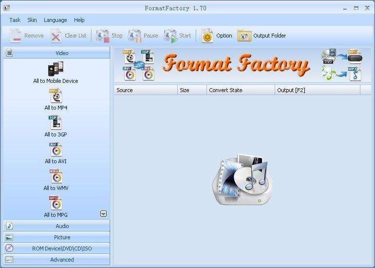 Screenshot of Format Factory